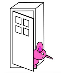 Roze olifant in de kast